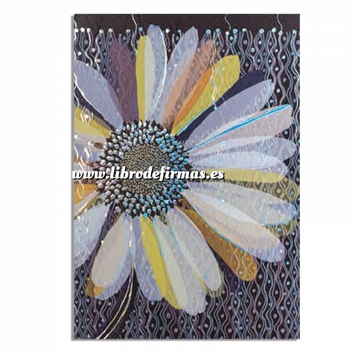 Imagen Turnowsky Cuadernillo Notebook Turnowsky - Flor morada y azul Ref. 38656 (Últimas Unidades)