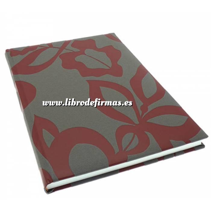 Imagen Floral Libro de Firmas CAMILA Gris Berenjena Burdeos